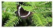 White Admiral On Tree Bath Towel