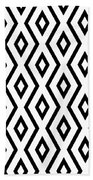 White And Black Pattern Bath Towel by Christina Rollo