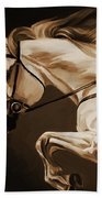 White Beautiful Horse  Bath Towel