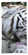 White Bengal Tiger Bath Towel