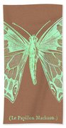 White Butterfly Swallow Tail Le Papillon Machaon Bath Towel