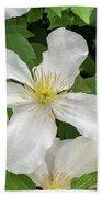 White Clematis 0808 Bath Towel