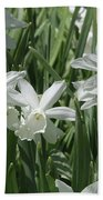 White Daffodils  Bath Towel