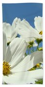 White Daisy Flowers Fine Art Photography Daisies Baslee Troutman Bath Towel
