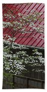 White Dogwood In The Rain Bath Towel