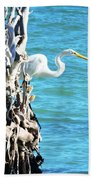 White Fisherman Bath Towel