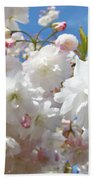 White Floral Tree Flower Blossoms Art Baslee Troutman Bath Towel