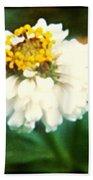 White Flower Bath Towel