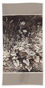 White Flowers 1877 12 3h9 Ivan Ivanovich Shishkin Bath Towel