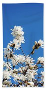 White Flowers Hand Towel