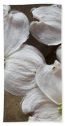 Dogwood White Flowers On Stones Bath Towel