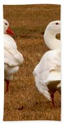 White Geese 1 Bath Towel