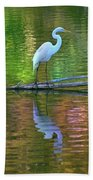 White Heron Bath Towel