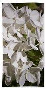 White Hydrangea Bloom Bath Towel