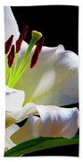 White Lilium Bath Towel