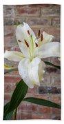 White Lily Portrait Bath Towel