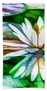 White Lotus In The Pond Bath Towel