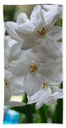 White Narcissi Spring Flower 2 Bath Towel