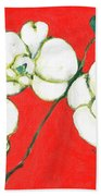 White Orchid Bath Towel by Jennifer Lommers