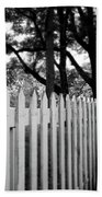 White Picket Fence- By Linda Woods Bath Towel
