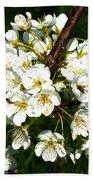 White Plum Blossoms Bath Towel