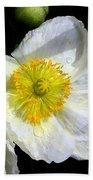 White Poppy Trio Photograph Bath Towel