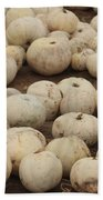 White Pumpkins Bath Towel