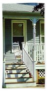 White Rocking Chairs Bath Towel