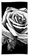 White Rose Hand Towel
