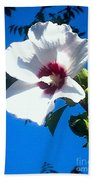 White Rose Of Sharon Hanging Out In The Sky Bath Towel