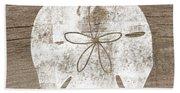 White Sand Dollar- Art By Linda Woods Hand Towel