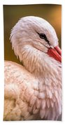 White Stork Bath Towel