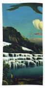 White Terraces, Rotomahana, By William Binzer. Bath Towel
