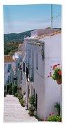 White Village Of Frigiliana Andalucia., Spain Bath Towel