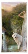 White Wolf Falls Bath Towel