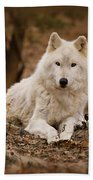 White Wolf Bath Towel