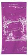 Whitehill Sewing Machine Patent 1885 Pink Bath Towel