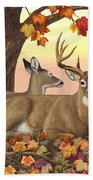 Whitetail Deer - Hilltop Retreat Hand Towel by Crista Forest
