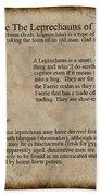 Who Are The Leprechyauns Of Ireland Bath Towel