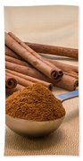 Whole Cinnamon Sticks With A Heaping Teaspoon Of Powder Bath Towel