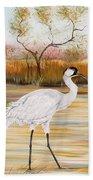Whooping Cranes-jp3156 Bath Towel
