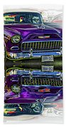 Wicked 1955 Chevy - Reflection Bath Towel