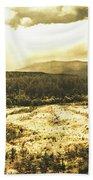 Wide Open Tasmania Countryside Bath Towel