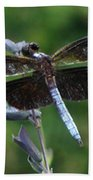 Widow Skimmer Dragonfly Bath Towel