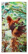 Wild Bear Peek-a-boo Watercolour Bath Towel