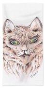 Wild- Brown Hair Cat Bath Towel