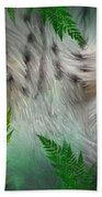 Wild Eyes - Snow Leopard Bath Towel
