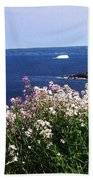 Wild Flowers And Iceberg Bath Towel