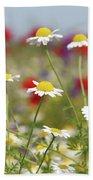 Wild Flowers Field Nature Spring Scene Bath Towel