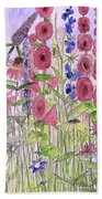 Wild Garden Flowers Bath Towel